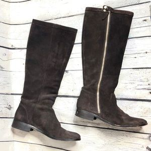 J. Crew $278 Tall Brown Suede Boots